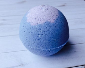 Blueberry Bath Bomb with oatmeal, Bath Fizzies, Sweet River Soap Co