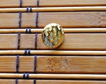 Vintage Acrylic Goldtone Shank Style Button