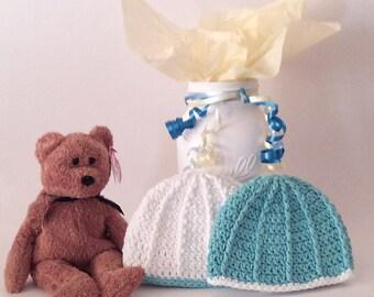 Twin Boy Hats, Crochet Premature Hat, Preemie Nicu Hat, Preemie Beanie Hat, Unique Baby Gift, Small Baby Hat, Reborn Baby Boy, Infant Cap