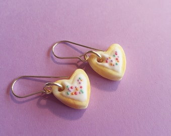 Iced Heart Cookie Earrings
