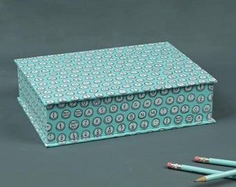 Desk Organizer, desk organizer, pencil box, unisex box, box desk, pen box, box dark blue turquoise