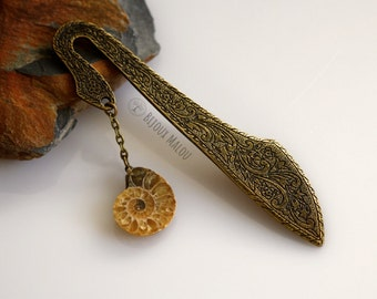 Real Ammonite Bookmark Fossil Bookmark Fossil Jewellery Fossil Gift Nature Bookmark Geology Bookmark Gift Christmas Gift Fossil
