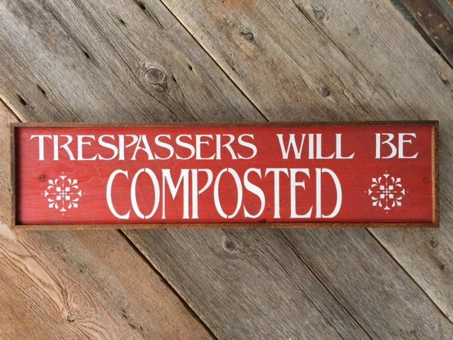 Wood Sign Funny Signs and Sayings Outdoor Garden Decor Farm