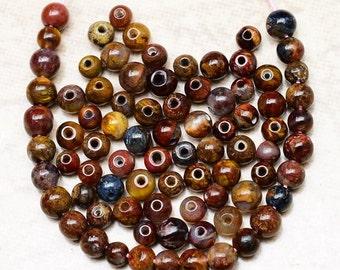 3mm DESTASH  Natural  Pietersite Gemstone  3mm Beads