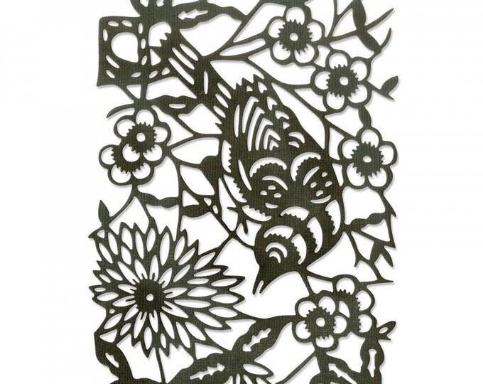 New! Sizzix Tim Holtz Alterations Thinlits Die - Paper-Cut Bird 661800