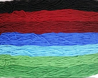 Czech Seed Bead Hanks Opaque size 11/0 (7 hanks, 7 colors, price per hank)