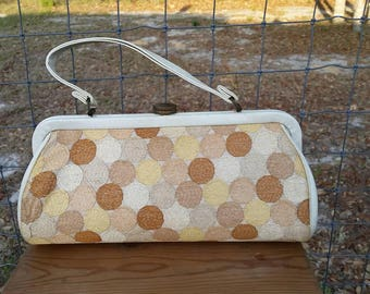 Vintage 1960s Mad Men tapestry handbag