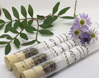 Wedding Favour, Bridal Shower Favour, Bath Salts, Spa Bath, Test Tubes, Spa Bath Salts