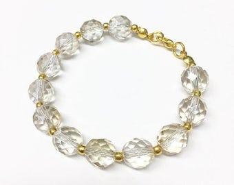 Iridescent Champagne Glass Bracelet