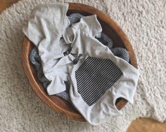 NEW Newborn boy hoodie romper, newborn boy photogrsphy prop, Newborn boy, newborn boy hooded romper, newborn boy  Pant Set, photo prop