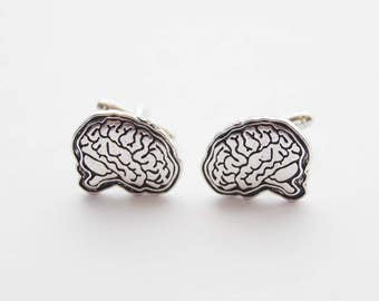 Brain Cufflinks, Brains Cufflinks, Novelty Cufflinks, Funny Cufflinks, Anatomical Brain cufflinks, Anatomy cufflinks, Graduation Gifts