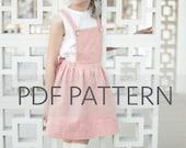 Macy Pinafore PDF, suspender skirt pdf, Easter PDF,pinny pattern, tween pinafore, sewing patterns, girl patterns, toddler pdf, kids patterns