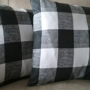 Pillows Covers Buffalo Check Plaid Multiple Colors Black Red