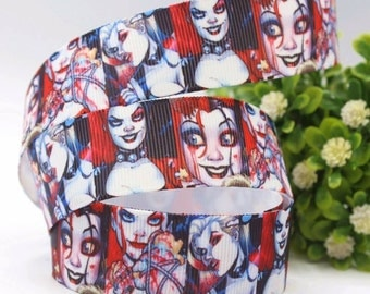 Harly Quinn, Joker, Comic, crasy Grosgrain ribbon