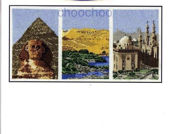DMC Counted Cross Stitch Kit - Tryiptych - India, Italy or Egypt