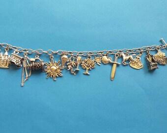 Renaissance faire charm bracelet