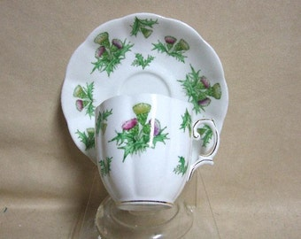 Royal Albert Highland Thistle Tea Cup and Saucer