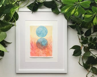 Original Watercolor Painting - Outer Landscapes Series