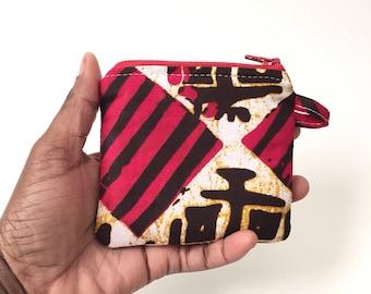 Mini pouch,Zippered pouch, African zipper pouch, coin purse, ankara change purse, stocking stuffer, tween gift, ,tribal pouch, ethnic pouch,