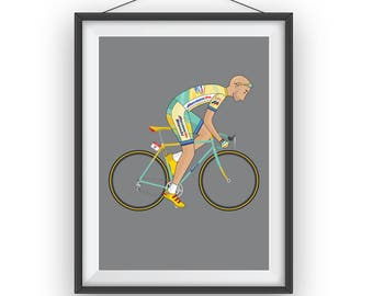 Marco Pantani A3 Giclee Print