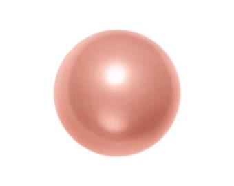 Rose Peach,6mm Swarovski Crystal Pearl,(5810) pkg of 25  (c-20E-799)