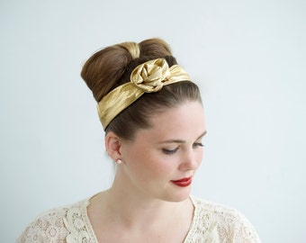 Accessories Top Knot Headband, Gift for Her Headband, Top Knot Headband Gold,