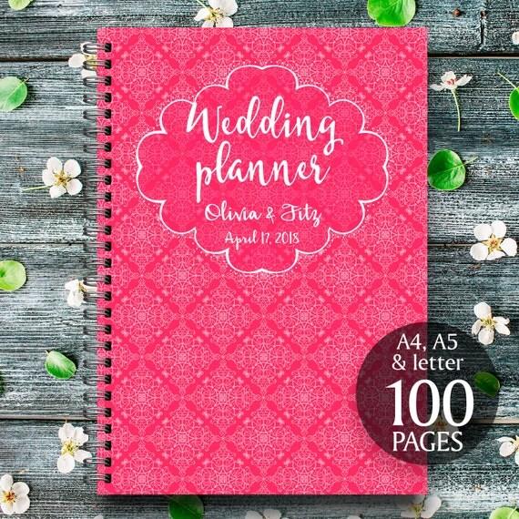 Red wedding planner, Red wedding kit, Red wedding organiser, Red wedding checklist, Red printable wedding planner, Red wedding binder