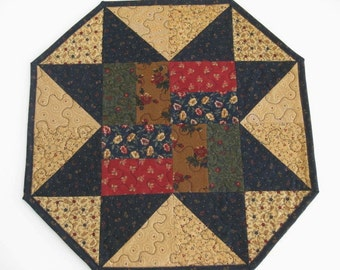 Quilted Table Topper, Quilted Patchwork Table Runner