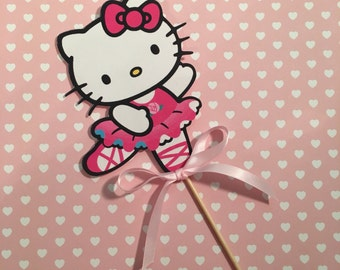 Hello Kitty Centerpiece,Hello Kitty Cake Topper, Hello Kitty Party,Hello Kitty Birthday Banner, photo prop chalkboard First Birthda
