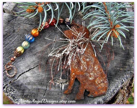 Rainbow Bridge Lab Ornament, Loss of Labrador Custom Gift, Personalized Hunting Dog Ornament, Hunting Dog Memorial, Bird Dog Sympathy