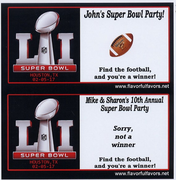 2017 super bowl 51 superbowl party favors by flavorfulfavors for Super bowl party items