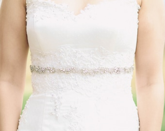 Simple bridal belt, bridal sash, bridal belt, belts and sashes - Style R83