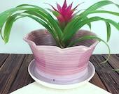 Purple Ceramic Planter, I...