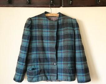 SALE // Vintage Wool Plaid Jacket