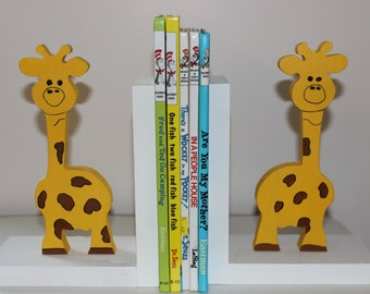 Hand Made Giraffe Bookends