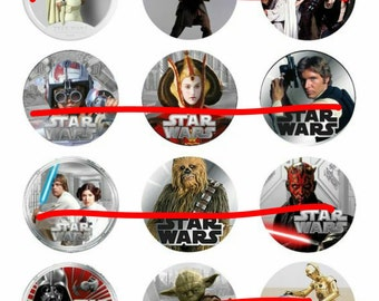 INSTANT DOWNLOAD* Star Wars Bottlecap Image Sheet