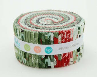 """Last one! Riley Blake - Comfort and Joy - Rolie Polie by Dani Mogstad 2.5"""" Fabric Quilting Strips Jelly Roll 40 count RP-6260-40"""