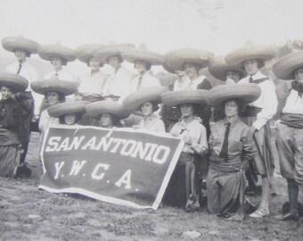 1920's San Antonio Texas YWCA Young Womens Christian Association Snapshot Photo - Free Shipping