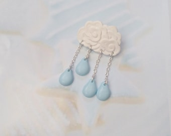 pin cloud polymer clay