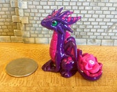 Purple dragon with flower