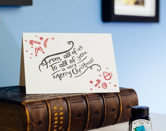 From All Of Us... Letterpress Christmas Card