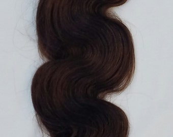 """20"""" Body Wave Weft Hair, 100grs,Weft Weaving (Without Clips),100% Human Hair Extensions #2 Darkest Brown"""