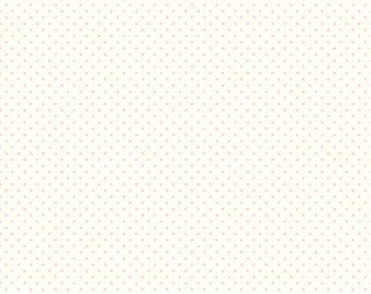 Le Creme Swiss Dots Baby Pink on Cream by Riley Blake Designs - C600-75 Baby Pink