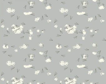 Tracks in Haze (Organic Poplin Fabric) by Charley Harper from the Western Birds collection for Birch Fabrics