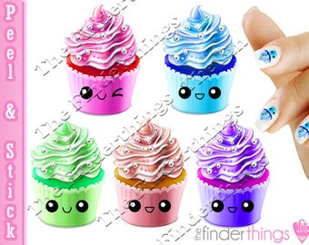 Kawaii Cupcakes Nail Art Decal Sticker Set CUP901