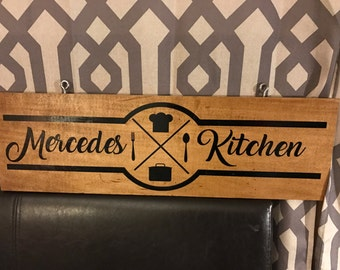 Wall wood decor, moms kitchen, stained wood