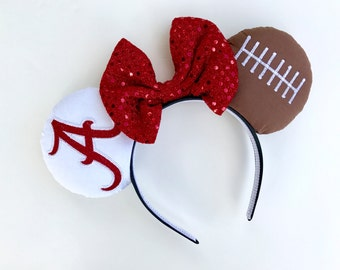Alabama Crimson Tide Minnie Mouse Ears