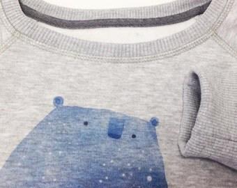 Animal sweatshirt Consternation clothes Great bear Little bear Ursa major Bear jumper Bear pullover Constellation pullover cosmic sweater
