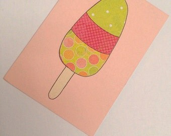 Sweet Collage Ice Lolly Card