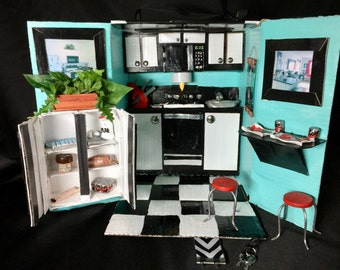 Barbie-sized Kitchen (Includes Accessories)